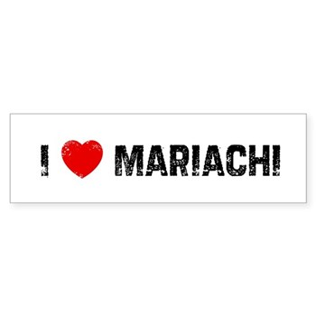 I Love  Mariachi Bumper Sticker