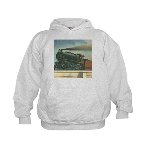 Antique Train Steam Engine Locomotive Vintage Kids Vintage Kids Hoodie by CafePress