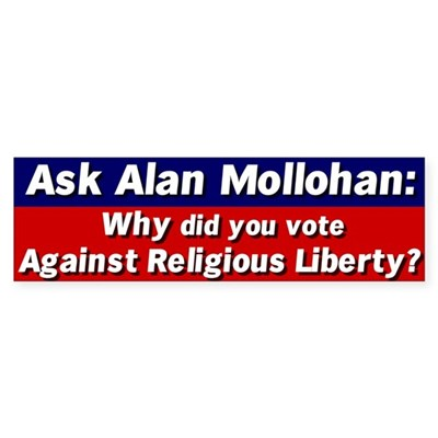 Ask Alan Mollohan Bumper Sticker