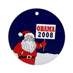 Santa for Obama 2008 Xmas Ornament