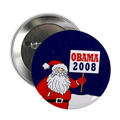 Santa for Obama 2008 2.25 Button (10 pack)