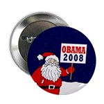 Santa for Obama 2008 Button