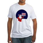 Santa for Obama 2008 Fitted T-Shirt