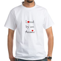 Loved by an Aussie White T-Shirt