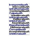 Bush Words Mini Poster Print