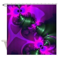 Purple Imp Abstract Shower Curtain
