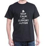 Keep Calm And Support Autism Dark T-Shirt