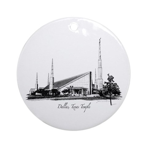 Dallas, Texas Temple Ornament Round Texas Round Ornament by CafePress