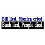 Bill, Monica and Bush Sticker (Bumper)