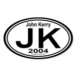 John Kerry 2004 Auto Sticker (Oval)