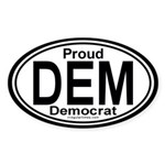 DEM Democrat Auto Sticker (Oval)