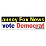 Annoy Fox News Sticker (Bumper)