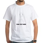 White Awareness Ribbon Customized Shirt