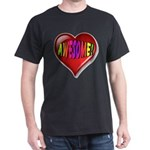 Awesome Heart with Rainbow Font T-Shirt