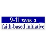 Faith Based Initiative Sticker (Bumper)