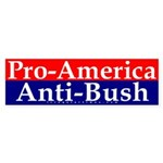 Pro-America, Anti-Bush Sticker (Bumper)
