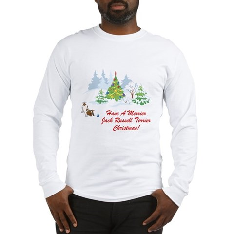Jack Russell Terrier Xmas Pets Long Sleeve T-Shirt by CafePress