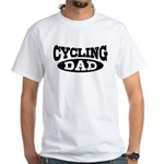 Cycling Dad White T-Shirt