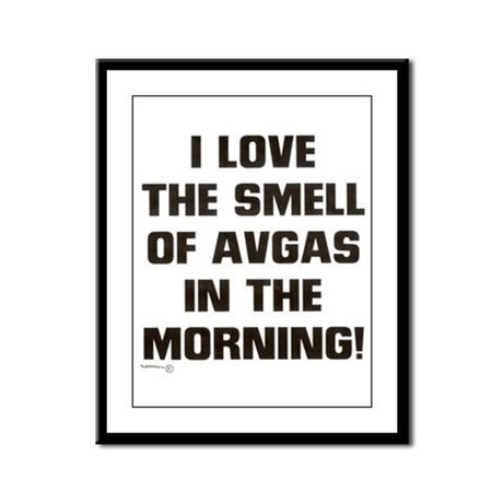 THE SMELL OF AV GAS Framed Panel Print
