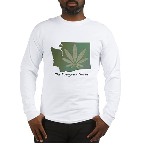 Product Image of Washington State Pot Leaf - Evergreen State Long S