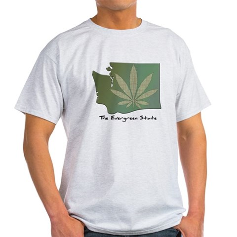 Product Image of Washington State Pot Leaf - Evergreen State T-Shir