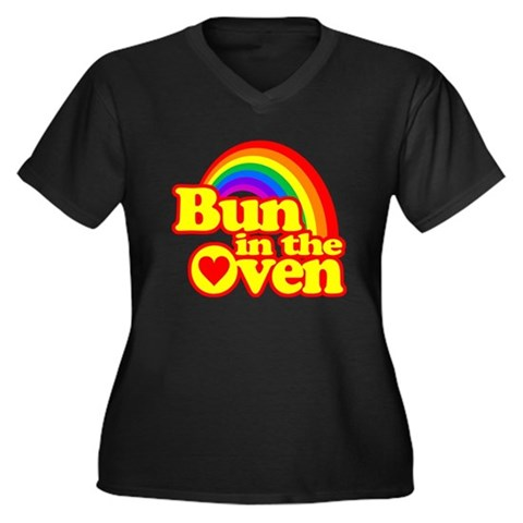 Product Image of Cute! Bun in the Oven Plus Size T-Shirt
