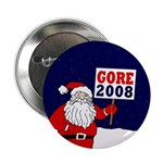 Santa Says Gore 2008! Button