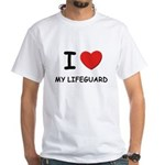 I love lifeguards White T-Shirt