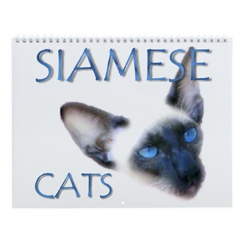 - Siamese Cats Cat Wall Calendar by CafePress
