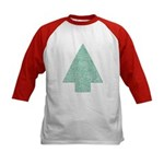 Green Christmas Tree Kid's Baseball Jersy