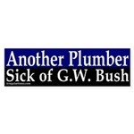 Another Plumber Against Bush (sticker)