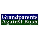Grandparents Against Bush Sticker (Bumpe