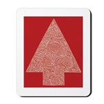 Red Christmas Tree Mousepad