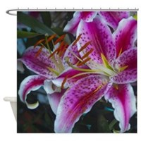 Stargazer Lily Magenta Pink Shower Curtain