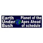 Earth Under Bush Sticker (Bumper)
