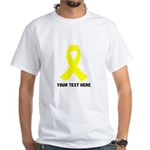 Yellow Ribbon Awareness White T-Shirt
