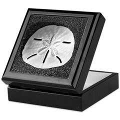 Sand Dollar (B&W) Keepsake Box