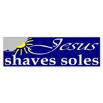 Jesus shaves soles Sticker (Bumper)