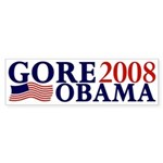 Gore-Obama 2008 Bumper Sticker