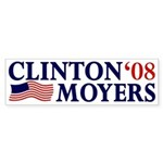 Clinton-Moyers 2008 Sticker (Bumper)