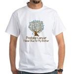 Brother Prostate Cancer Wear Blue Support T-shirts