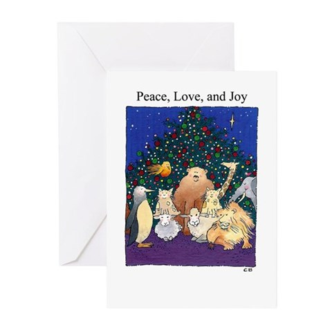Cynthia Bainton Holiday Cards Pk of 10 -critters Animals Greeting Cards Pk of 10 by CafePress