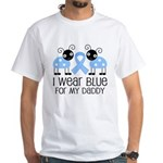 Daddy Light Blue Awareness White T-Shirt