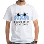Cousin Light Blue Awareness White T-Shirt