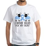 Aunt Light Blue Awareness White T-Shirt