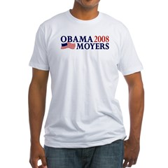 Obama-Moyers 2008 Fitted T-Shirt