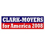 Clark-Moyers for America 2008 sticker