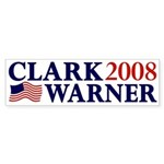 Clark-Warner 2008 Sticker (Bumper)