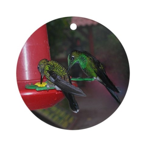 Hummingbird Pair Ornament Round Wildlife Round Ornament by CafePress