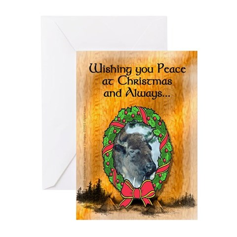 Christmas Peace Message Cards Pk of 10 Peace Greeting Cards Pk of 10 by CafePress